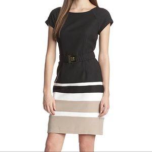 Sandra Darren- Zip Back Cap Sleeve Dress